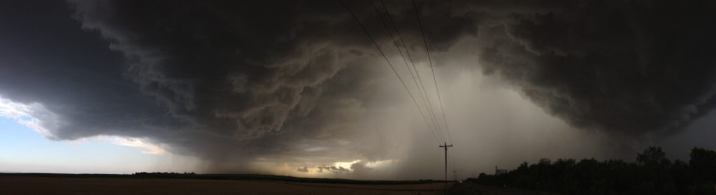 texas storm with iphone panorama