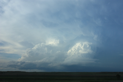 two supercells with anvils