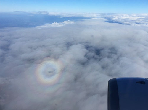 glory from airplane