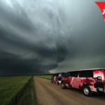 red van chase vehicle extreme tornado tours
