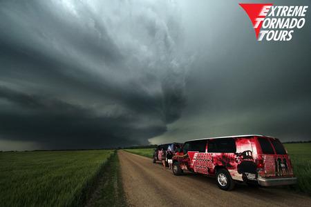 red van chase vehicle extreme tornado tours