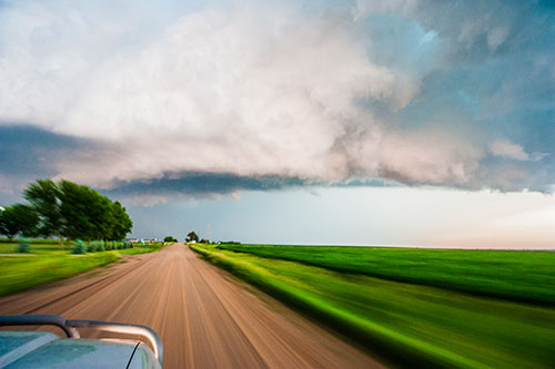chasing a storm