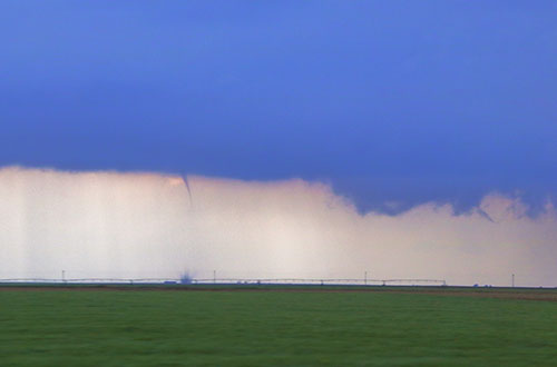 funnel with rotation tornado
