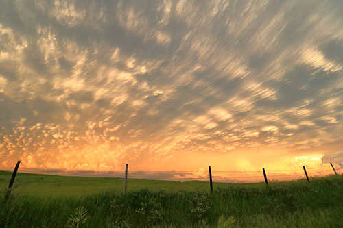 mammatus clouds nebraska wide angle