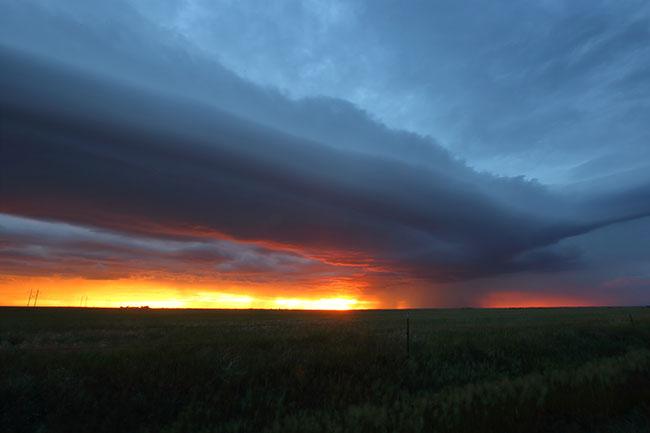 sunset shelf cloud