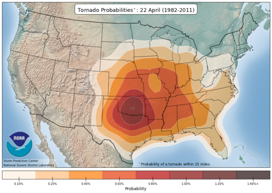 tornado activity in late april