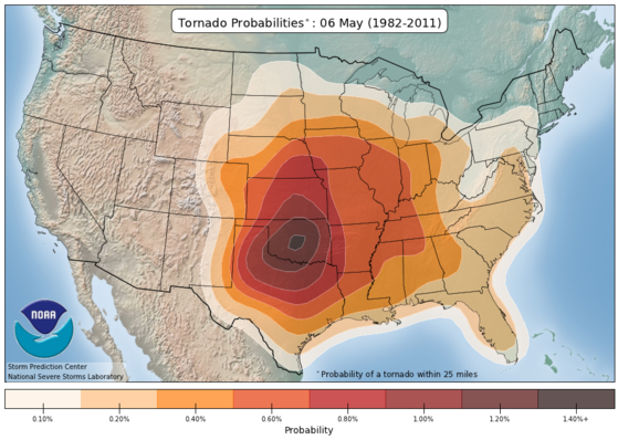 Tornado activity in early May