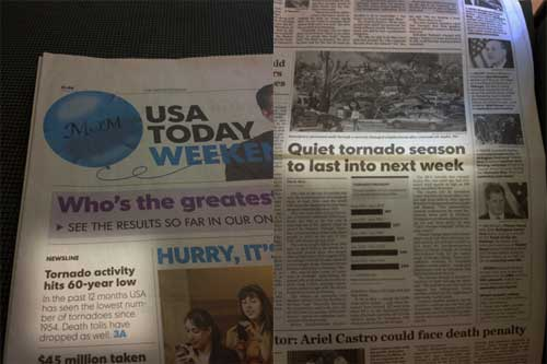 usa today low tornado activity
