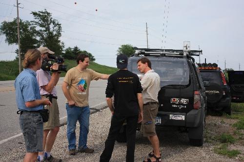 george korounis getting interviewed