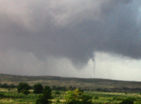 tornado with a satellite tornado