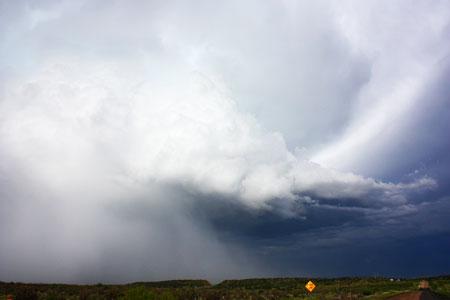 hail shaft backside of storm