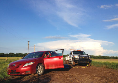 tow truck and storm