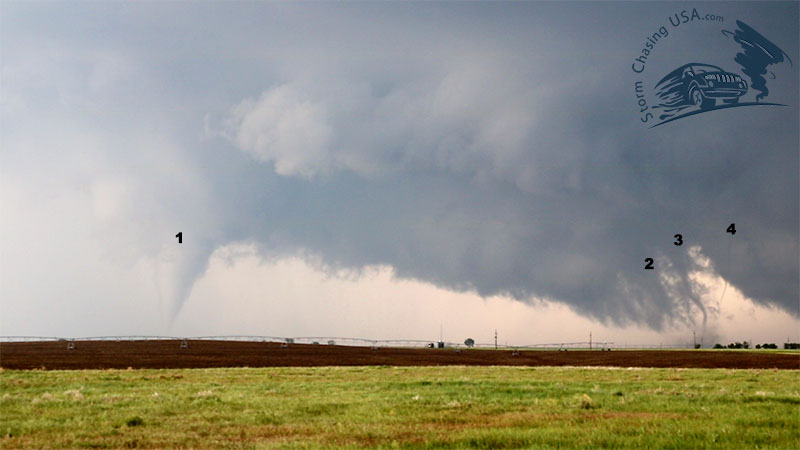 four tornados on the ground