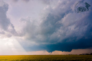 supercell with tornado