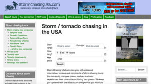 storm chasing usa