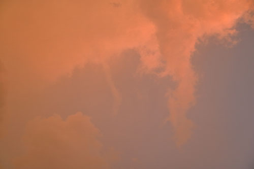 pink funnel cloud
