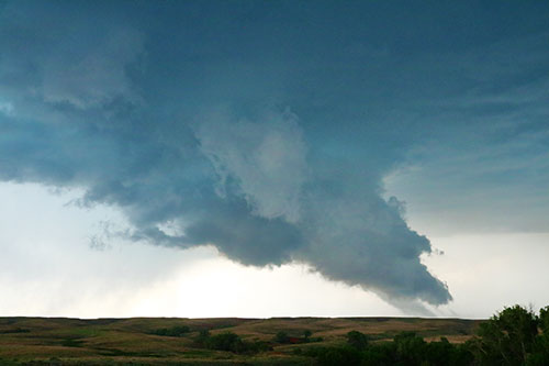 wall cloud with tail cloud