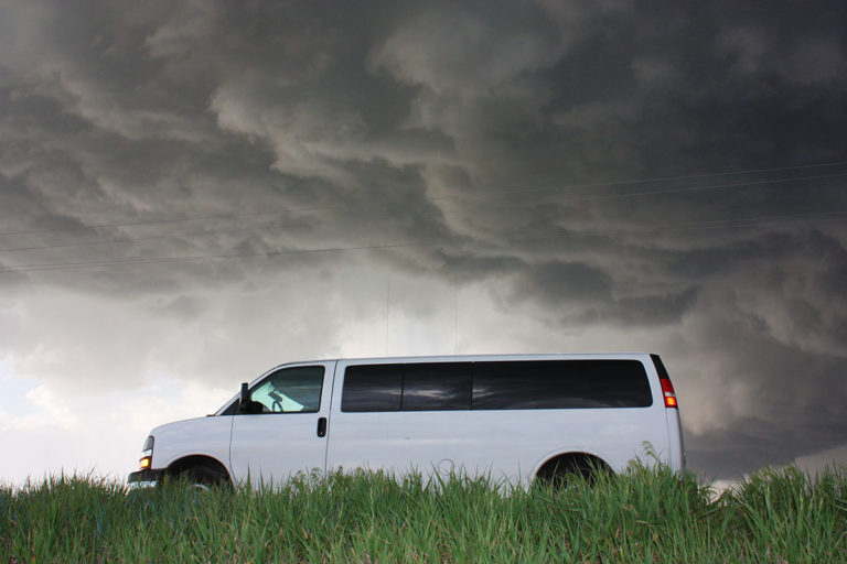 storm chasing tour van