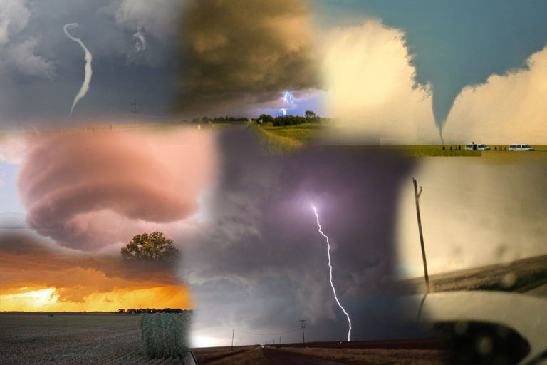 tornadoes and lightning