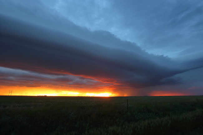 sunset shelf cloud
